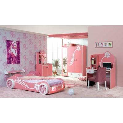 Kapris Pembe Arabalı Çocuk odası