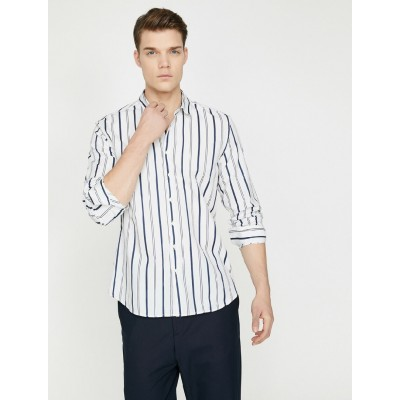 Uzun Kollu Cepsiz Gömlek