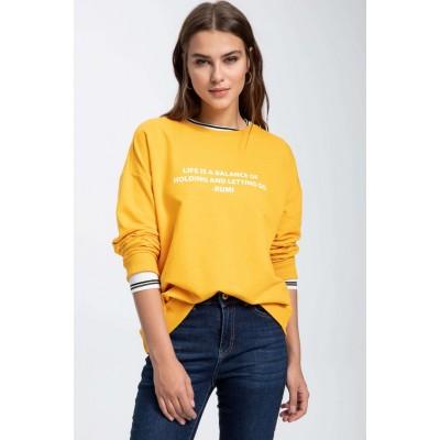 Slogan Baskılı Sweatshirt